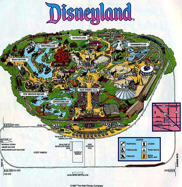 It's just a graphic of Luscious Printable Disneyland Maps
